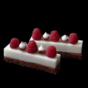 Brownie vanília mousse